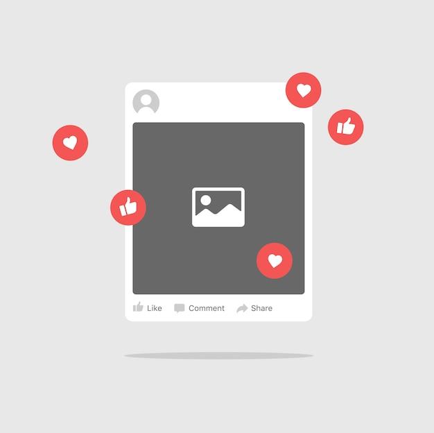 Foto di posta internet o cornice per immagini Vettore Premium