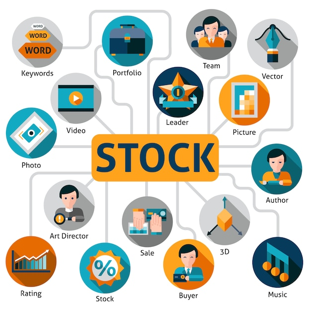 Foto e vector stock concept Vettore gratuito