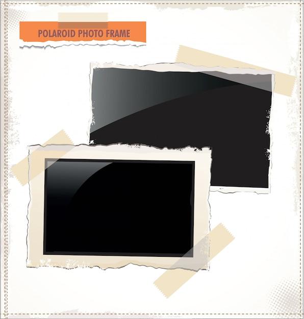 Foto polaroid Vettore Premium