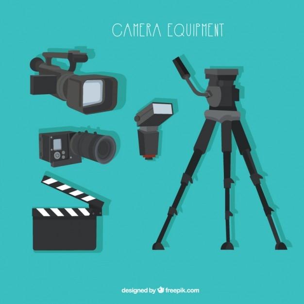 Fotocamera attrezzature moderne Vettore gratuito