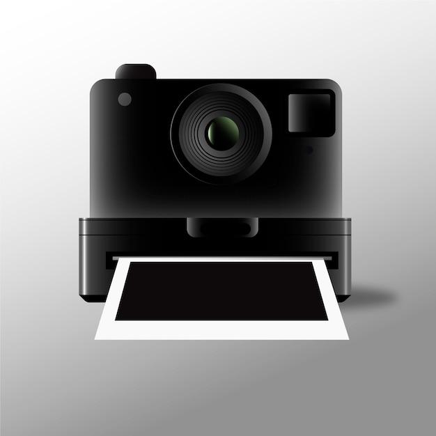 Fotocamera polaroid e immagini Vettore gratuito