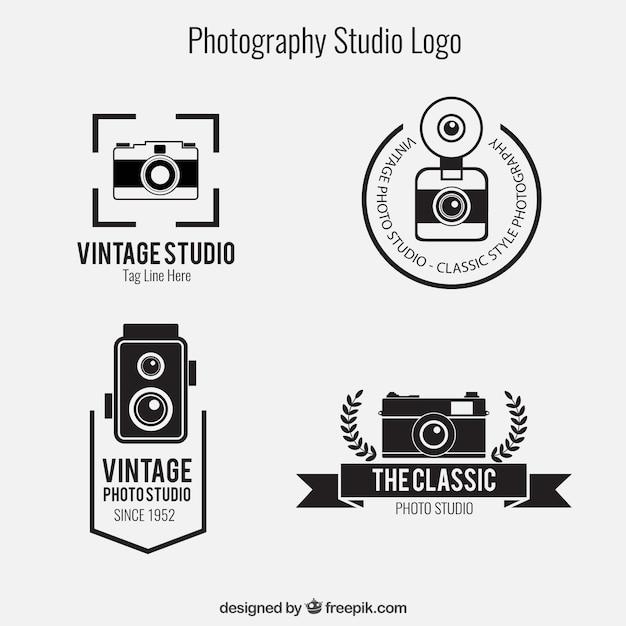 fotografia loghi studio pack scaricare vettori gratis