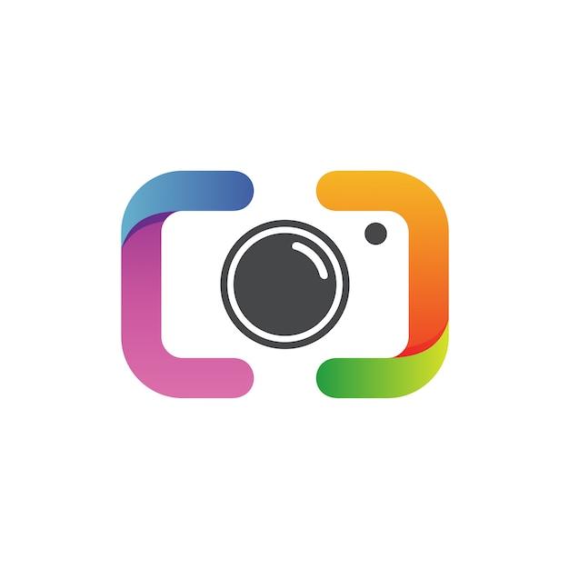 Fotografia logo vettoriale Vettore Premium
