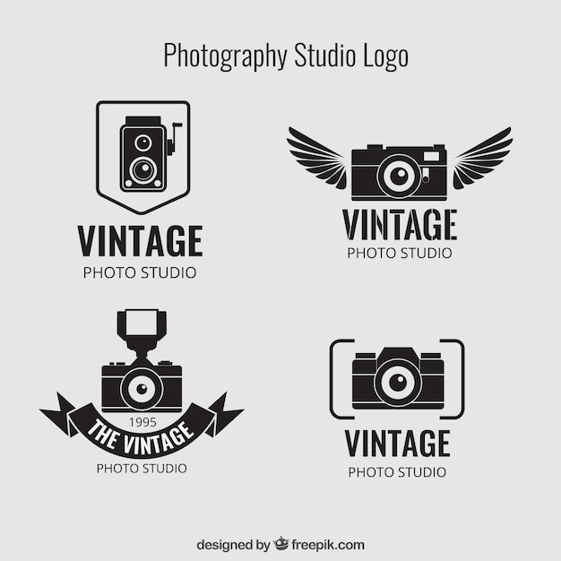 fotografia vintage studio loghi scaricare vettori gratis