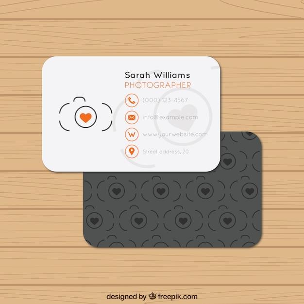 Fotografo biglietto da visita Vettore Premium