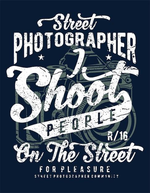 Fotografo di strada Vettore Premium