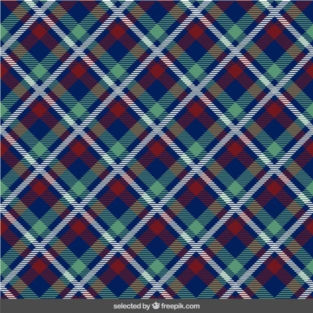 Frabric con motivo scozzese Vettore gratuito