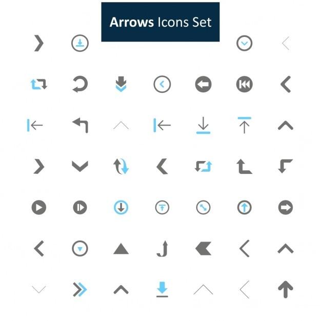 Freccia set di icone Vettore gratuito