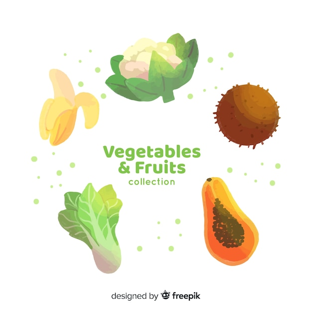 Frutta e verdura Vettore gratuito