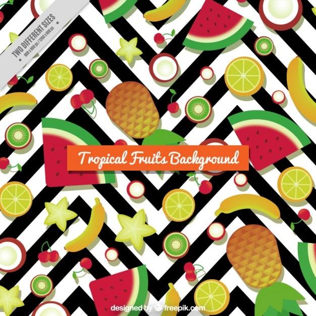Frutti tropicali sfondo Vettore gratuito