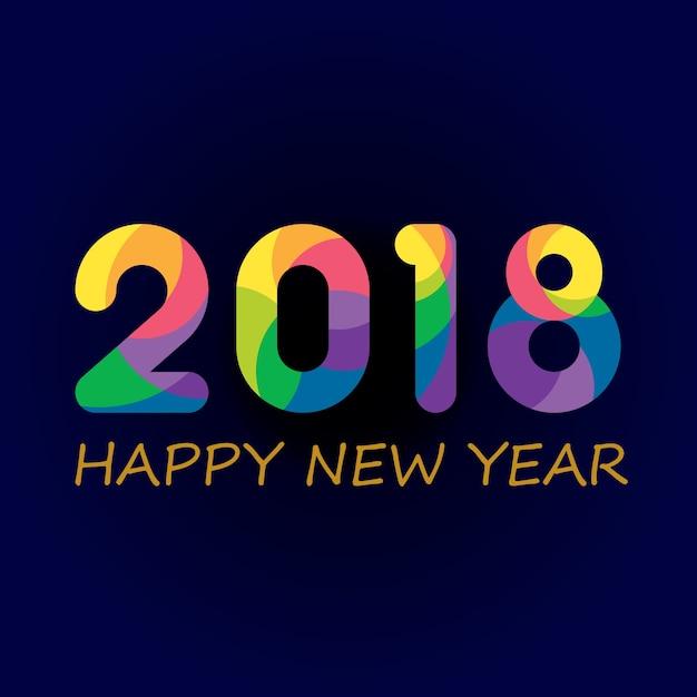 Full colour buon anno Vettore Premium