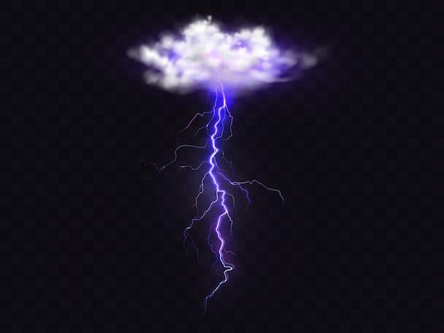 Fulmine fulmine dall'illustrazione della nuvola di temporale. Vettore gratuito