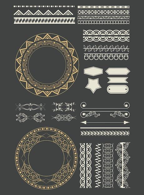 Fumetto decorativo degli emblemi del nastro Vettore gratuito