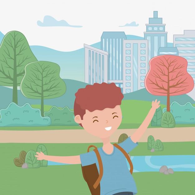Fumetto del ragazzo dell'adolescente Vettore gratuito