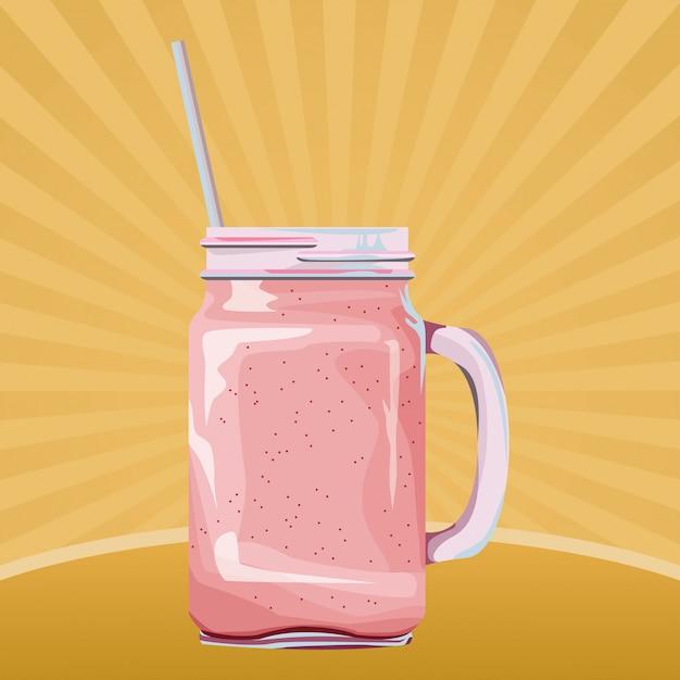 Fumetto della bevanda del frullato tropicale della frutta Vettore gratuito