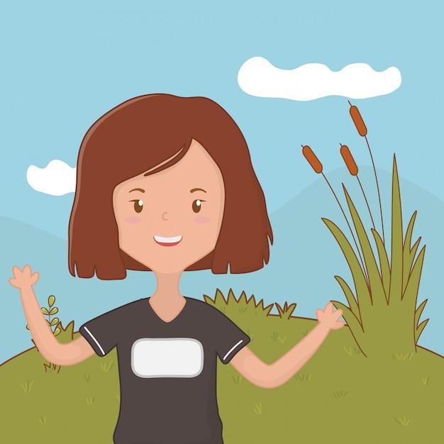 Fumetto della ragazza dell'adolescente Vettore gratuito