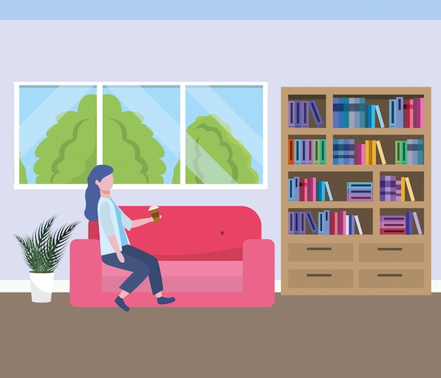 Fumetto di avatar donna d'affari Vettore gratuito
