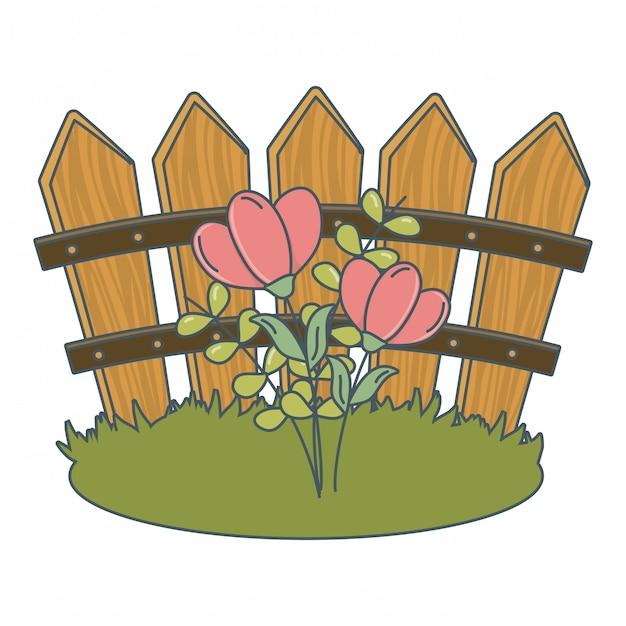 Fumetto di fiori natura floreale Vettore gratuito