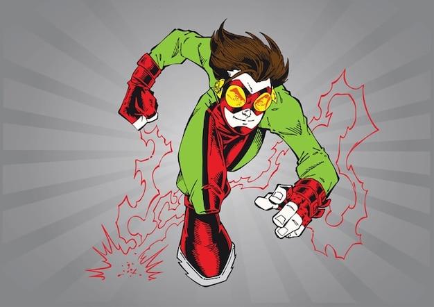 Fumetto di supereroi scaricare vettori gratis