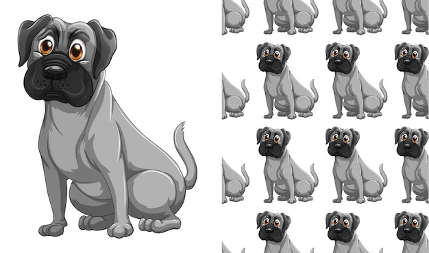 Fumetto isolato del modello animale del cane Vettore gratuito