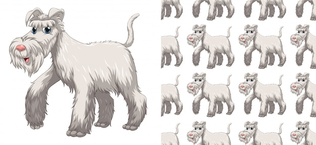 Fumetto senza cuciture e isolato del modello animale Vettore gratuito