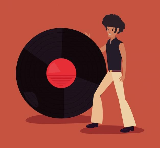Funk ballerino di persone Vettore Premium