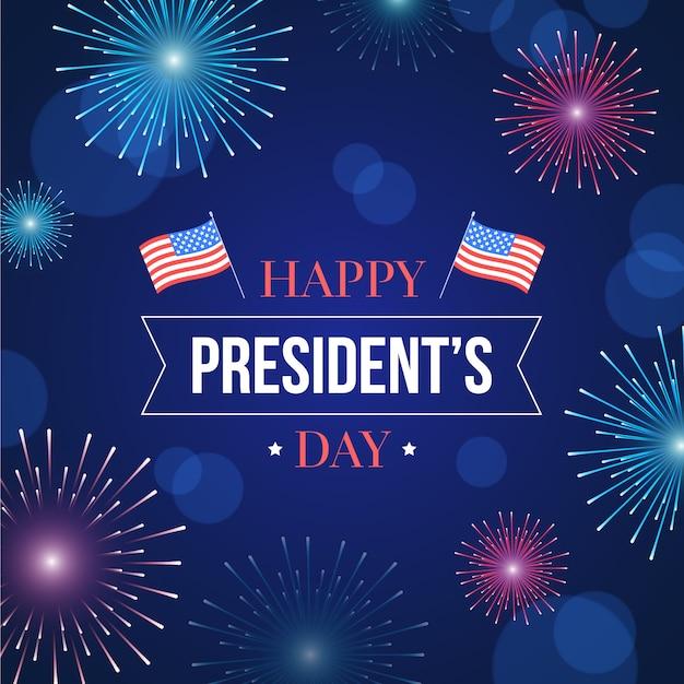 Fuochi d'artificio del giorno dei presidenti Vettore gratuito
