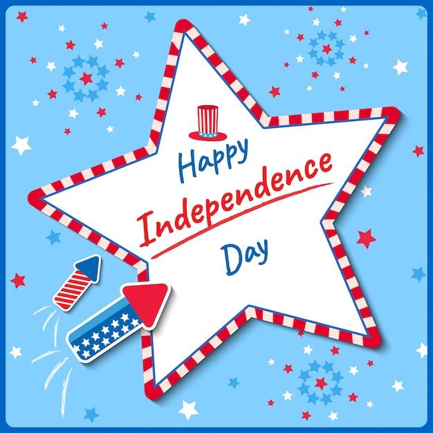 Fuochi d'artificio del giorno dell'indipendenza Vettore Premium