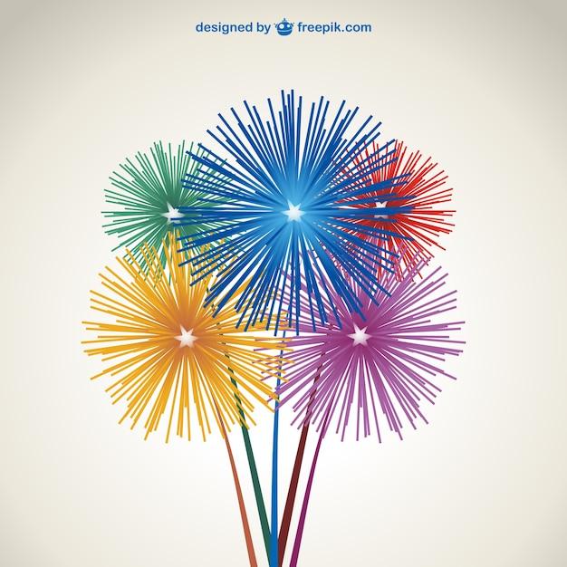Fuochi d'artificio vettore download gratuito Vettore gratuito