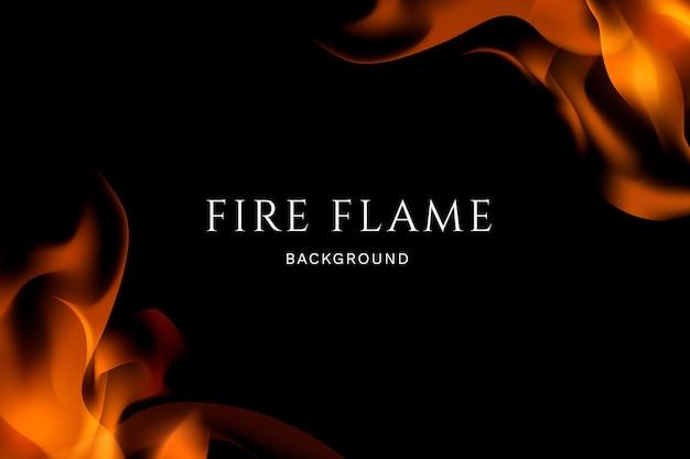 Fuoco e fiamme sullo sfondo Vettore gratuito