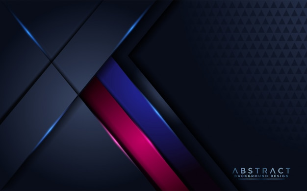 Futuristico astratto moderno sfondo blu marino con strato di sovrapposizione Vettore Premium
