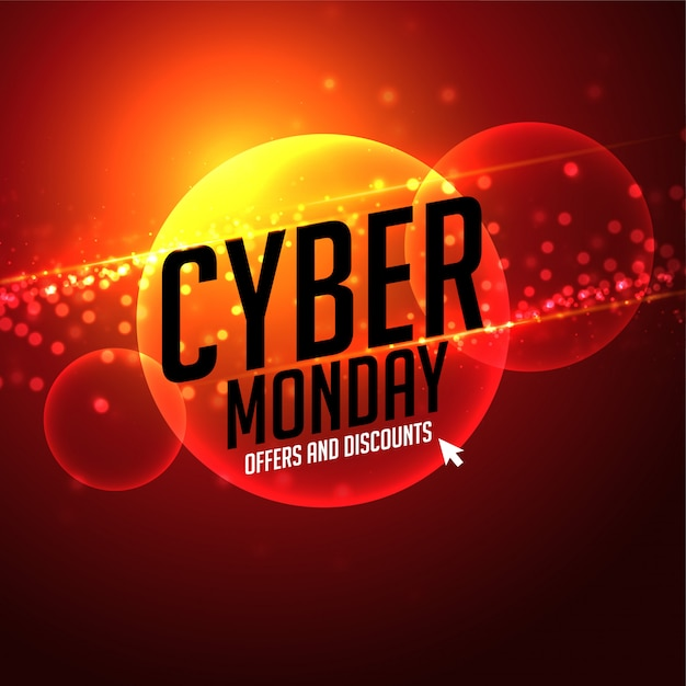 Futuristico cyber lunedì offerta e sconti sullo sfondo Vettore gratuito