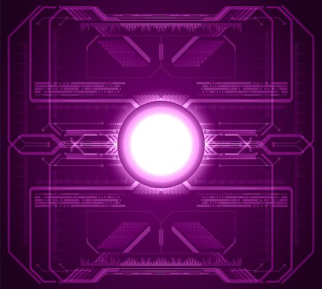 Futuro tecnologia viola circuito futuro della tecnologia Vettore Premium