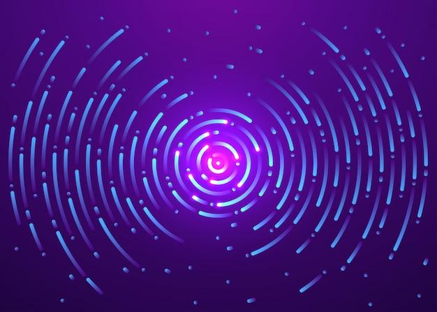Galassia dell'universo in movimento, sfondo astratto Vettore Premium
