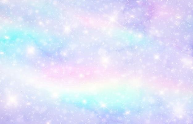 Galaxy sfondo di fantasia Vettore Premium