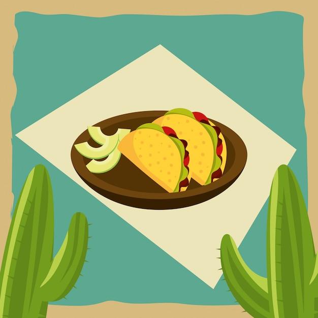 Gastronomia messicana Vettore Premium
