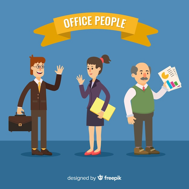 Gente di affari moderna con design piatto Vettore gratuito
