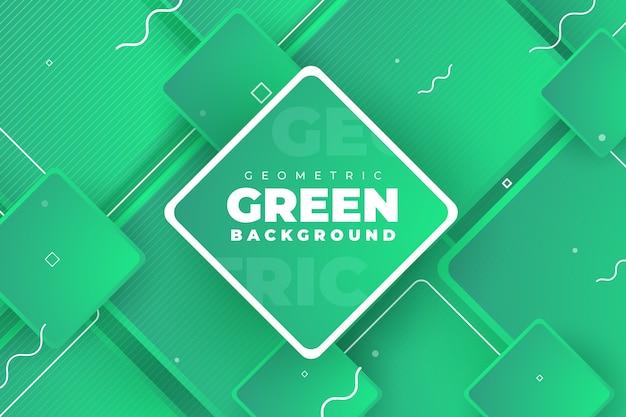 Geometrico astratto verde di sfondo Vettore gratuito