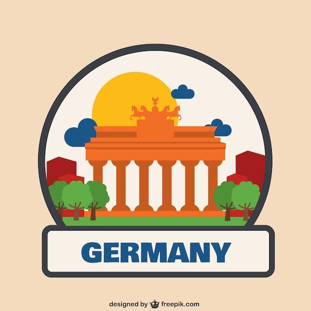 Germania logo illustrazione Vettore gratuito