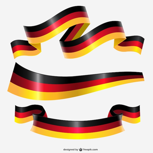 Germany flag ribbon Vettore gratuito