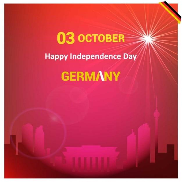 Germany paese limiti sfondo rosso Vettore gratuito