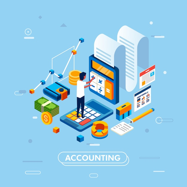 Gestione contabile e concetto di amministrazione Vettore Premium