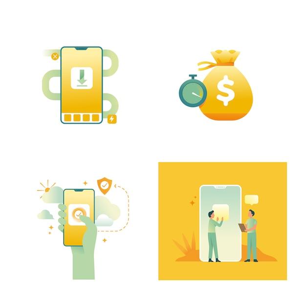 Gestione del concetto di finanza personale Vettore Premium