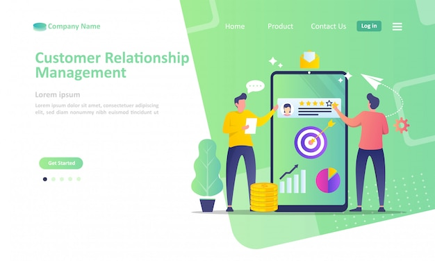 Gestione delle relazioni con i clienti aziendali Vettore Premium