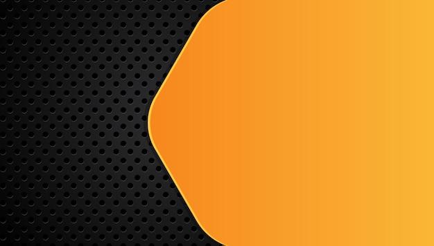 Giallo arancio e nero sfondo astratto di affari Vettore Premium