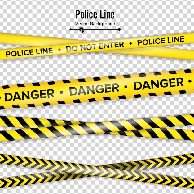 Giallo con linea di polizia nera. Vettore Premium