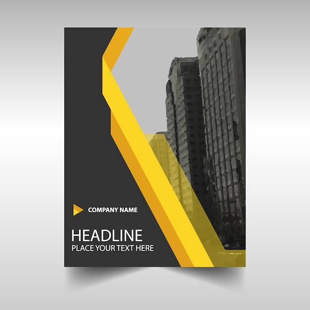 Giallo relazione annuale modello di copertina del libro creativo Vettore gratuito