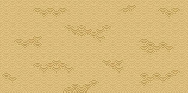 Giappone pattern e sfondo. disegno vettoriale Vettore Premium