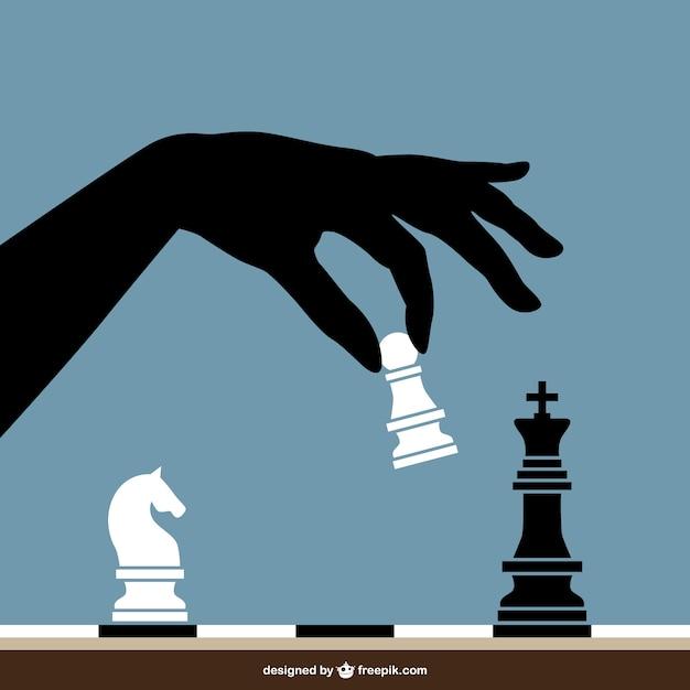 Giocare a scacchi vettore Vettore gratuito