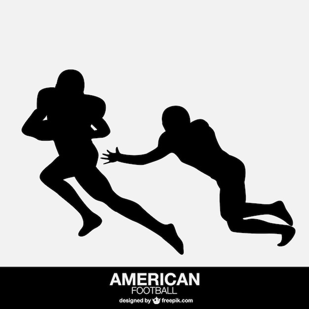 Giocatori di football americano isolato di design for Disposizione seminterrato di design gratuito